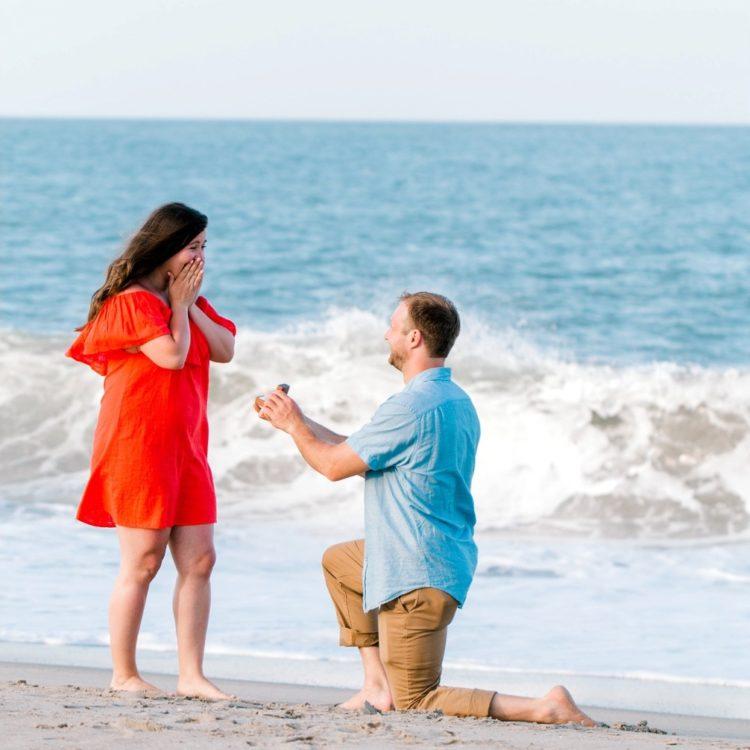 bethany beach proposal photographer