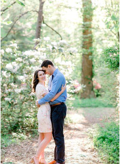 Sam & Mitchell – Bethesda Garden Engagement Session