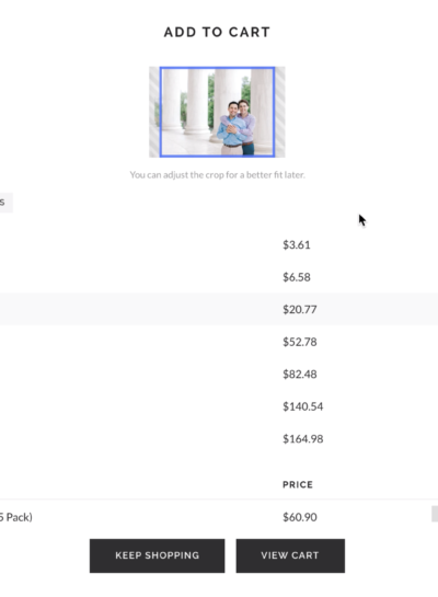 Ordering Prints Through Your Photo Gallery