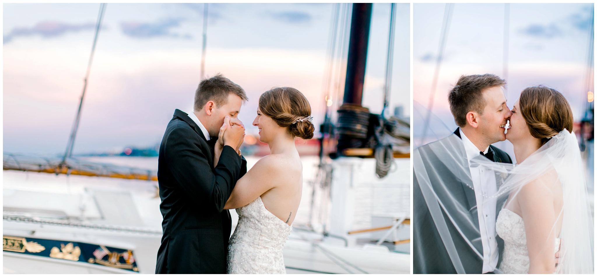 Baltimore Inner Harbor Sunset Wedding