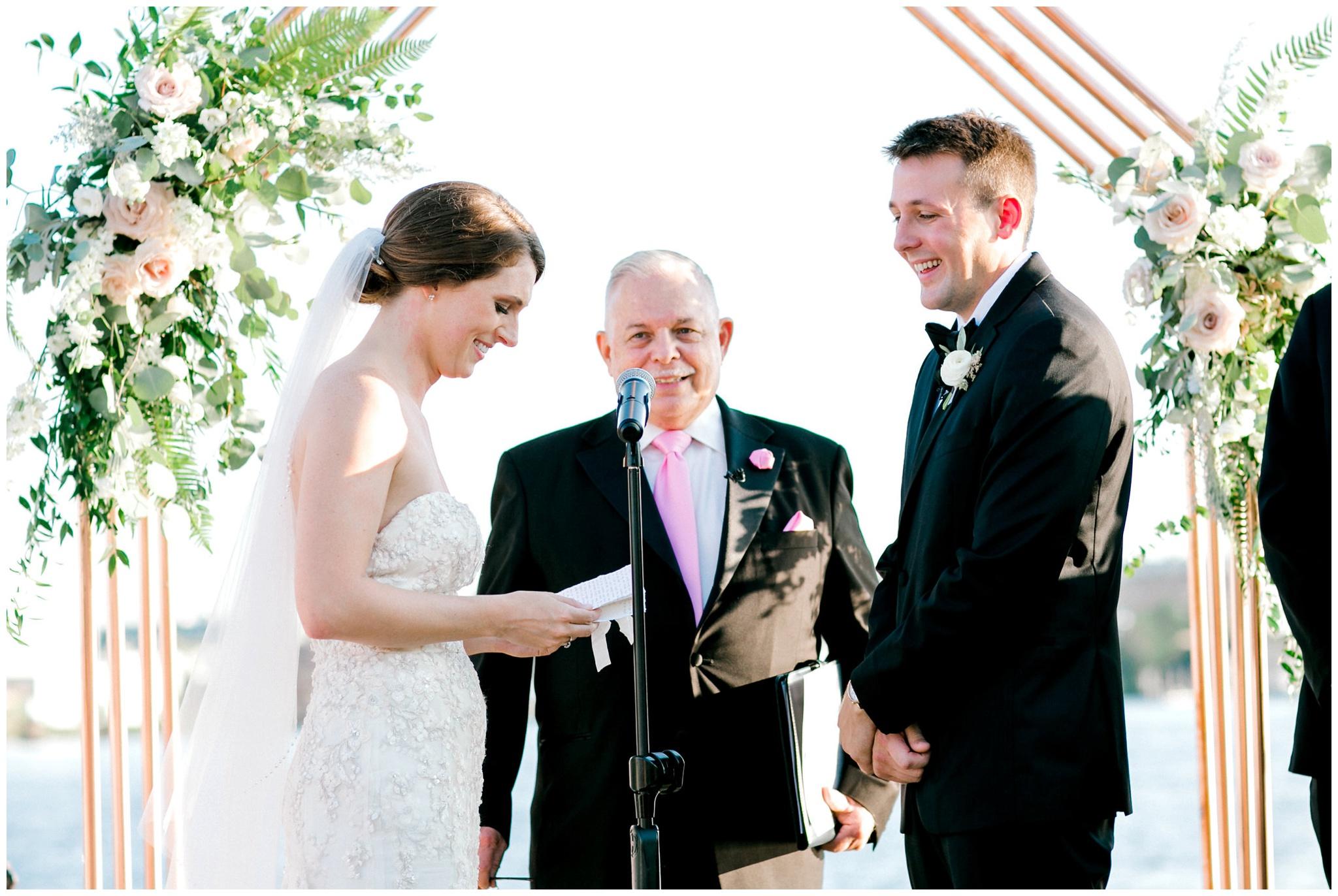 Modern Waterfront Wedding Ceremony Baltimore Maryland