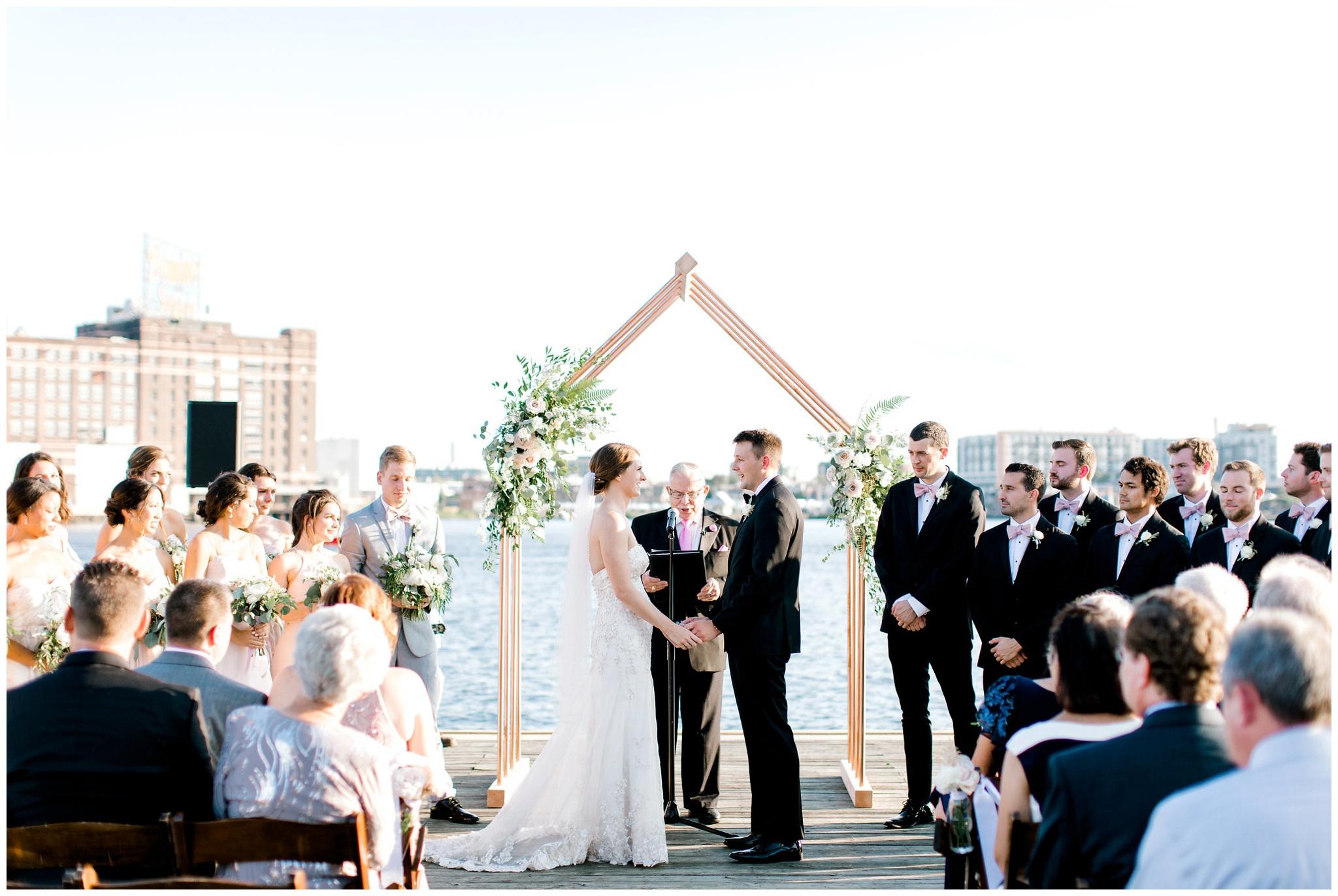 Baltimore Wedding Photographer Waterfront Ceremony