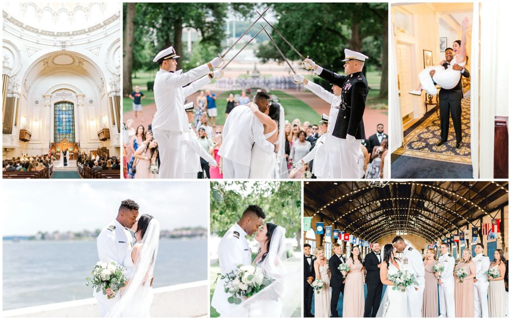 Summer Wedding at the United States Naval Academy in Annapolis, Maryland Nikki Schell Photography