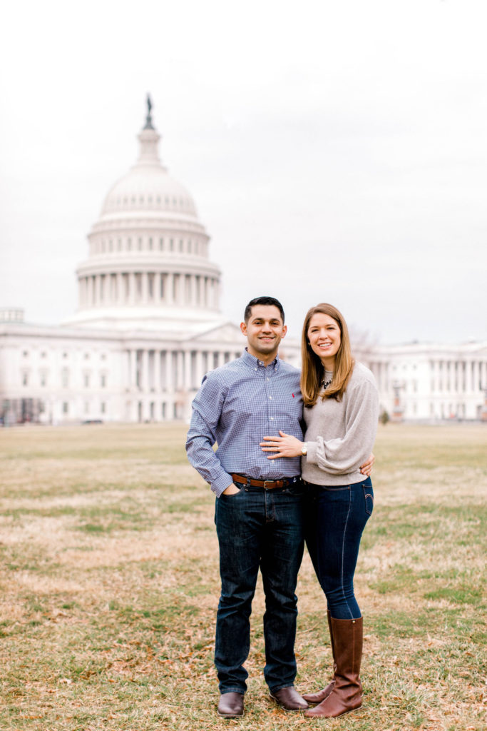 Couple in front of the DC Capitol Building