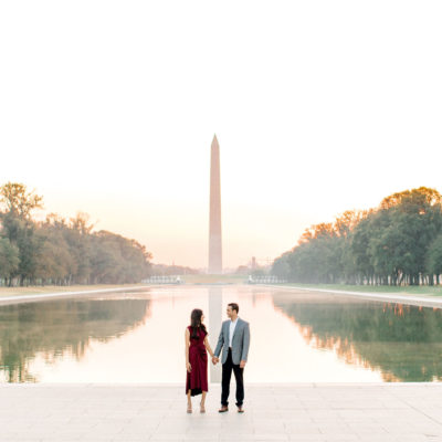 Engagement: Kruti & Premal (Lincoln Memorial)