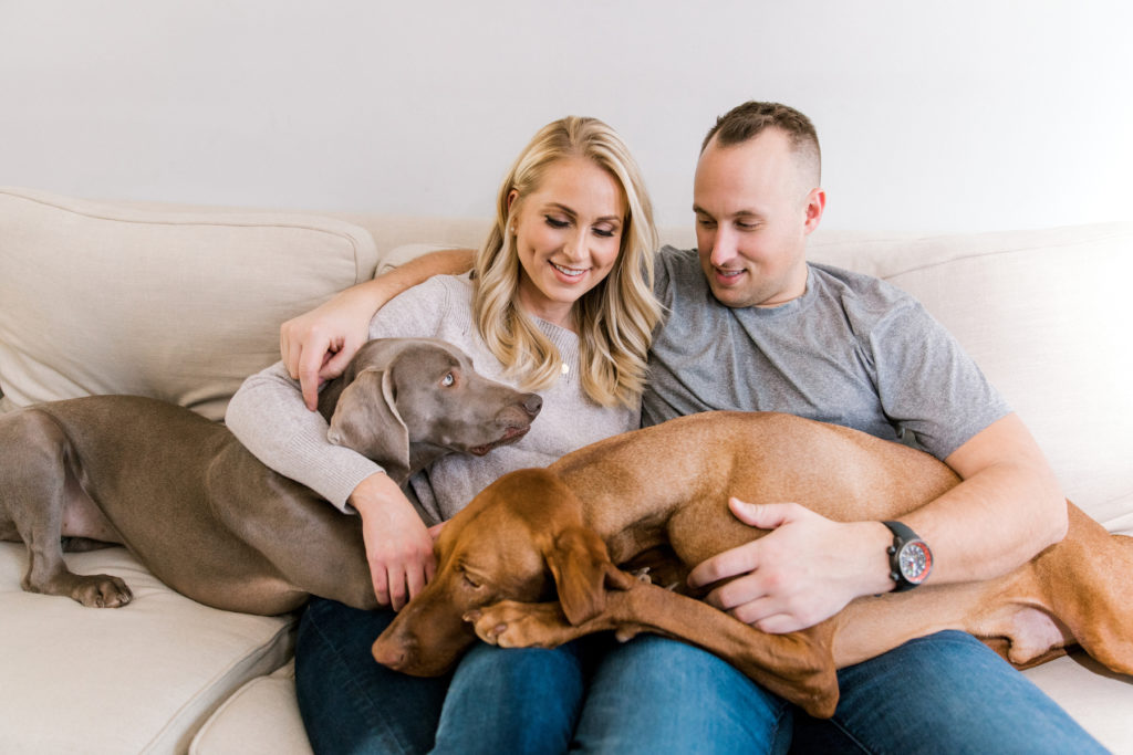 dog in engagement photo tips