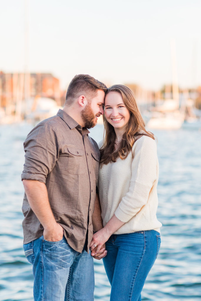 Annapolis Waterfront Engagement Photography by DC Wedding Photographer Nikki Schell