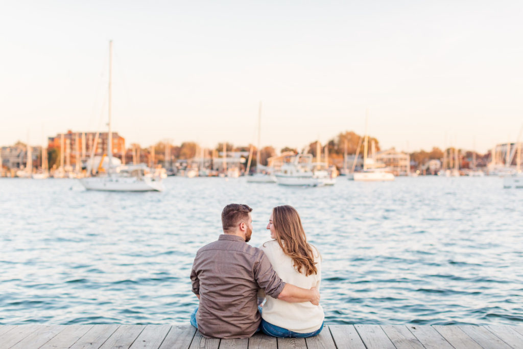 fall engagement session in Downtown Annapolis, Annapolis Waterfront Engagement Photography by DC Wedding Photographer Nikki Schell