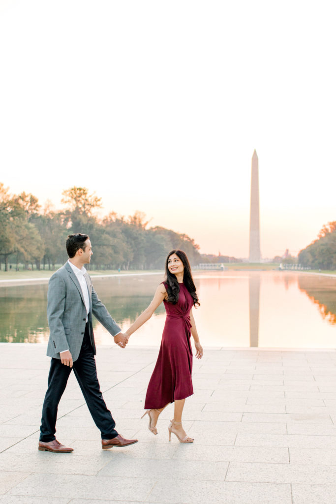 Lincoln Memorial Engagement Session, Engagement Session Prep Tips